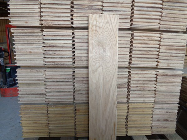 Plancher à l'ancienne chène 2.3X16.5 - Simple Face